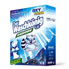 Waschkonig 3x Proszek do prania firan i białej bielizny Gardinen 600 g - 10 prań