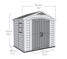 KETER domek ogrodowy Factor 8x6