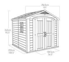 KETER domek ogrodowy Factor 8x8