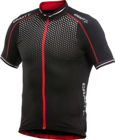 Craft kolesarska majica s kratkimi rokavi Glow, moška, črna/rdeča, XXL