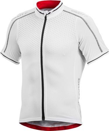 Craft kolesarska majica s kratkimi rokavi Glow, moška, bela, M