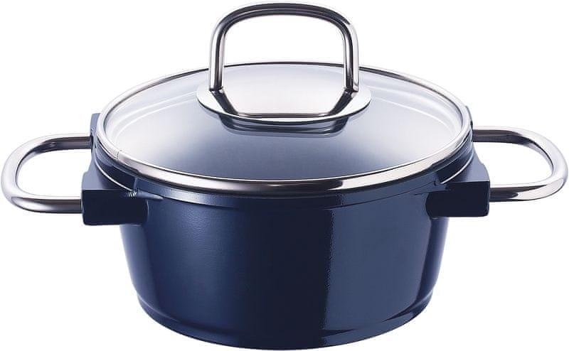 BERGNER Hrnec s keramickým povrchem 20 cm 2,6 l BLUE KNIGHT BG-8655