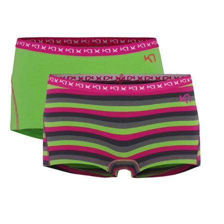 Kari Traa boksarice Vinst, ženske, dvojno pakiranje, zelene, S