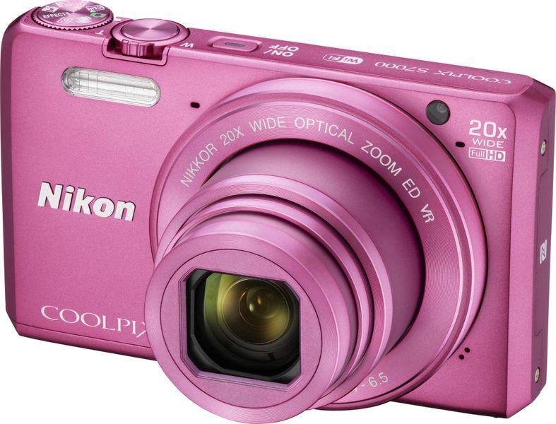 Nikon Coolpix S7000 Pink + pouzdro ZDARMA!