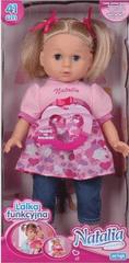 Artyk Lalka Natalia 42 cm X-NA-LF0012, blondynka w różowej sukience