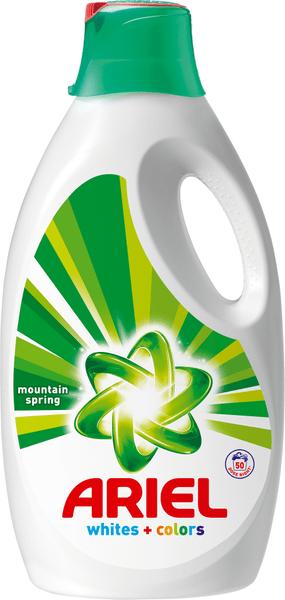 Ariel Mountain Spring prací gel 50 praní, 3,25 litru