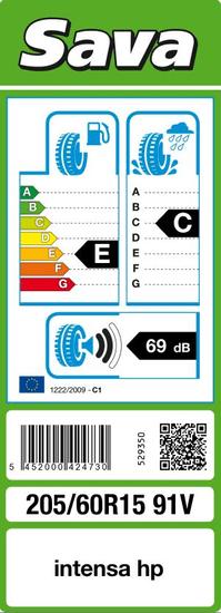 Sava Intensa HP guma 205/60R15 91V