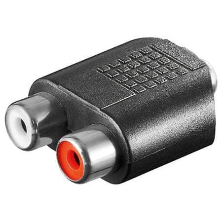 Goobay avdio 3,5mm -> 2xRCA (činč) adapter