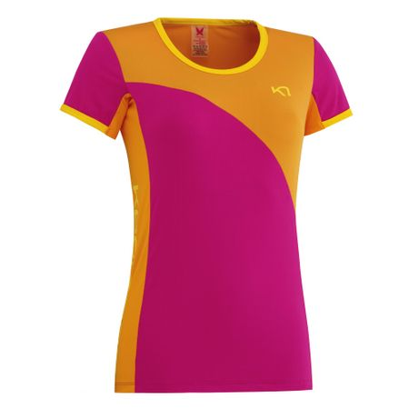 Kari Traa majica s kratkimi rokavi Trude, ženska, roza, L