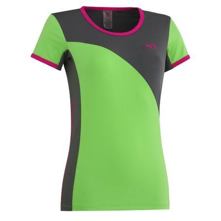 Kari Traa majica s kratkimi rokavi Trude, ženska, zelena, L