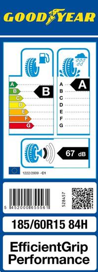 Goodyear pneumatik EfficientGrip Performance 185/60R15 84H