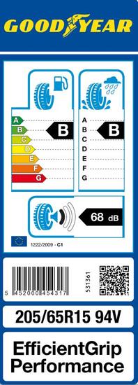 Goodyear auto guma EfficientGrip Performance 205/65R15 94V