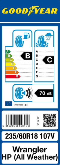 Goodyear guma Wrangler HP All Weather 235/60R18 107V XL FP M+S