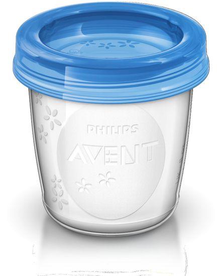 Philips Avent VIA pohárky s víčkem 180ml - 5ks