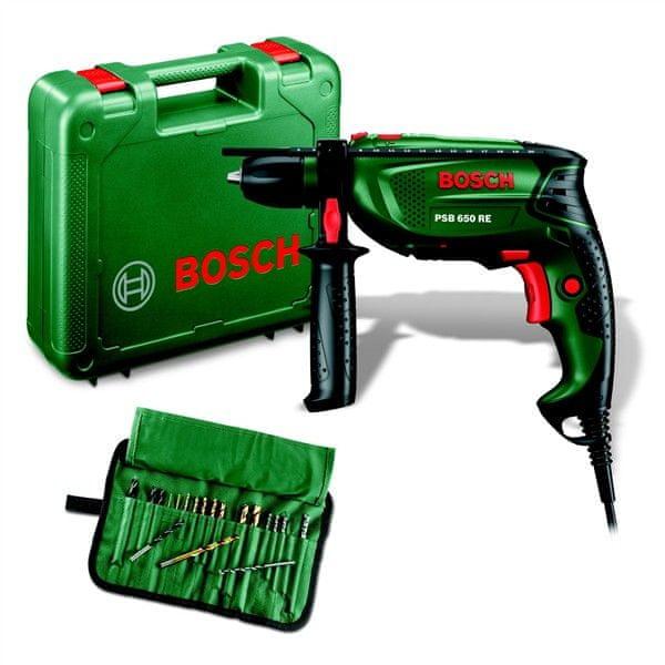 Bosch PSB 650 RE + 19-ti dílné příslušenství