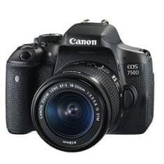Canon digitalni fotoaparat EOS 750D + EF-S18-55mm IS f/3.5-5.6 STM