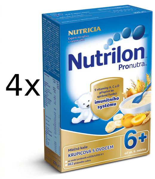 Nutrilon Mléčná kaše ovocná - 4 x 225g
