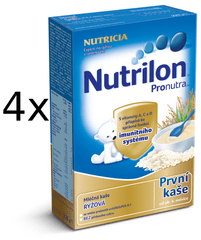 Nutrilon Mliečna kaša ryžová - 4 x 225g