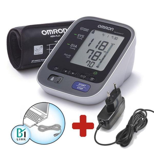 Omron M6 Comfort IT s USB připojením + zdroj