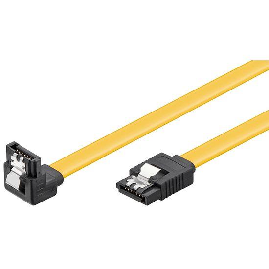 Goobay SATA kabel 6BGits 0,5 m. s kotnim priklopom