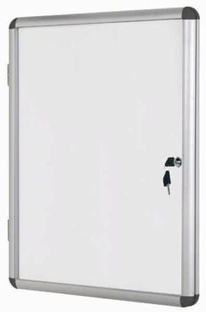 Bi-Office Oglasna omarica s ključem, magnetna, 9 x A4