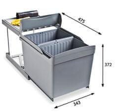 Alveus sistem za ločeno zbiranje odpadkov Albio 30, 2 x 16 l