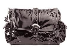 Kalencom Prebaľovacia taška Buckle Bag Black corduroy