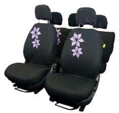 CarPoint prevleke za sedeže Purple Flower, 9 kosov
