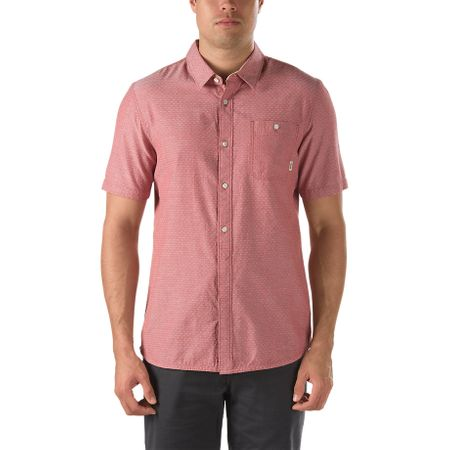 Vans srajca s kratkimi rokavi Frazier, moška, barva lososa, XL