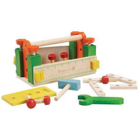 EverEarth lesena delovna miza z orodjem