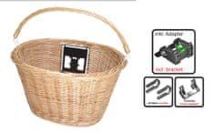 košara za volan sa nosačem, pletena