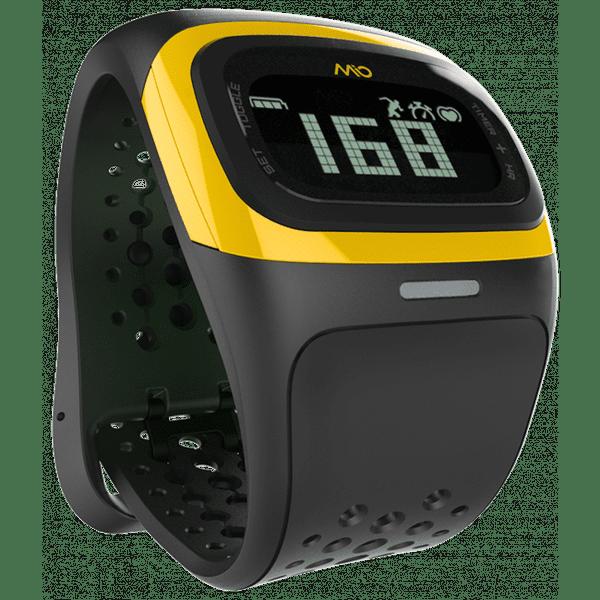 Mio Alpha 2, senzor srdečního tepu, žluté