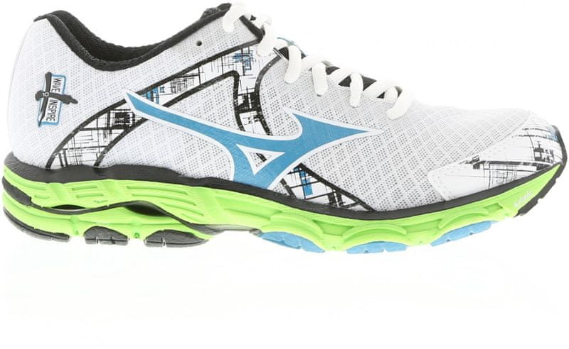 Mizuno Wave Inspire 10 White / Blue 8,0 (42,0)