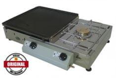 Gorenc stolni plinski roštilj s kuhalom Tradicija 65K Siv, LTŽ ploča