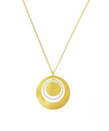 Stroili kovinska ogrlica s kristalčki 1512932