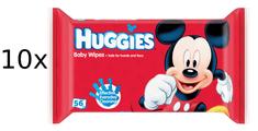 Huggies Chusteczki nawilżane10 x 56 szt