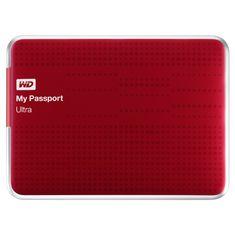 WD My Passport Ultra 1TB USB 3.0 Červený (WDBZFP0010BRD-EESN)