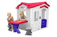 Little Tikes Domek s piknikovým stolkem - královské barvy