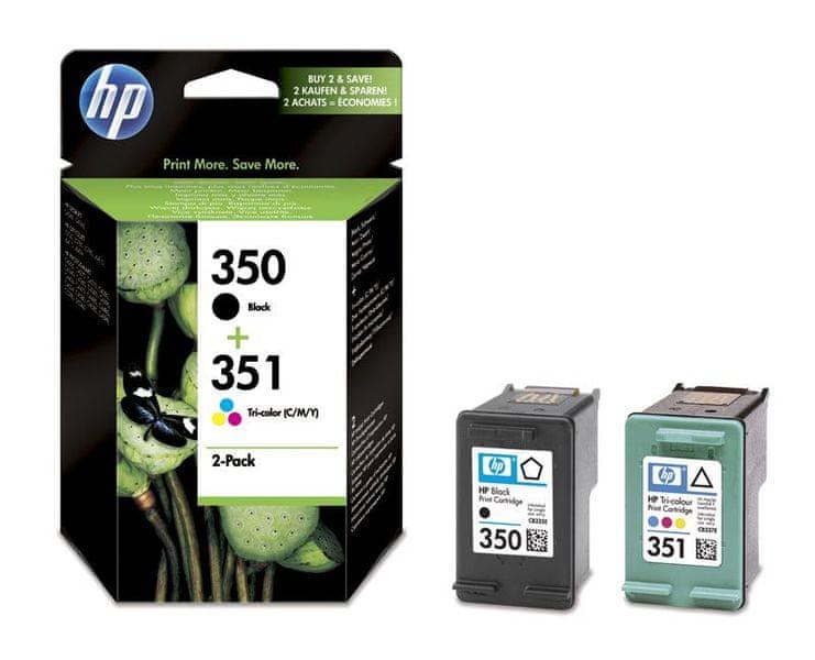 HP č.350 Černá + č.351 Tříbarevná originální inkoustová kazeta (SD412EE)