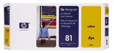 HP tiskalna glava in čistilo 81 Yellow (C4953A)