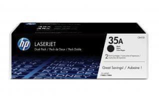 HP č.35A Dvojbalení černé originální tonerové kazety LaserJet (CB435AD)