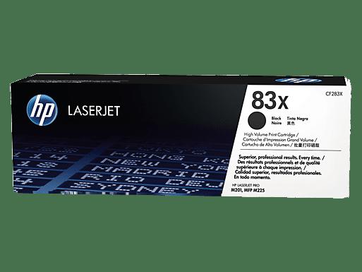 HP č.83X Černá originální tonerová kazeta LaserJet s vysokou výtěžností (CF283X)