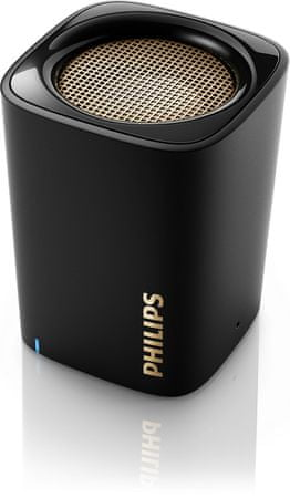 Philips prenosni Bluetooth zvočnik BT100, črn