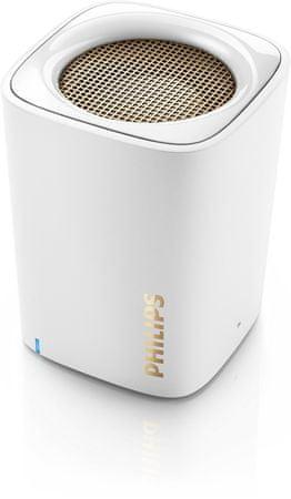 Philips prenosni Bluetooth zvočnik BT100, bel