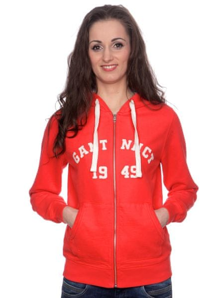 Gant dámská mikina s kapucí L červená