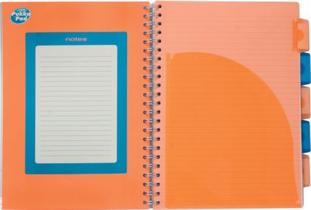 Pukka Pad zvezek špirala Neon, A4 črte, 125-listni, oranžen