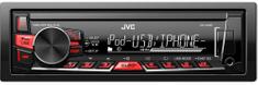 JVC KD-X220 Autórádió (USB/AUX bemenet, FLAC lejátszás, iPod/Android kompatibilis)