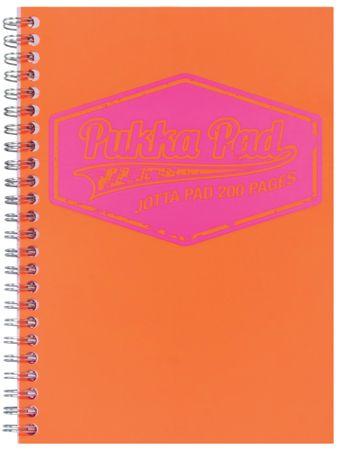 Pukka Pad zvezek špirala Neon, A5 črte, 100-listni, oranžen