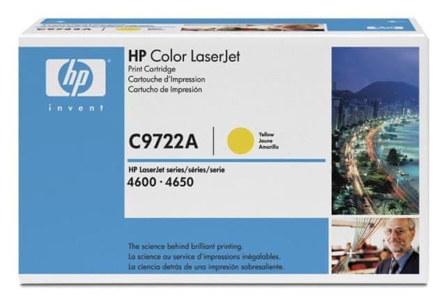 HP č.614A originální žlutá tonerová kazeta LaserJet (C9722A)
