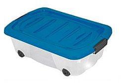 KAISERHOFF Pojízdný úložný box s víkem 24l (KO-899487), modrá